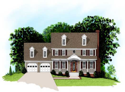 Traditional Style Home Design Plan: 4-160