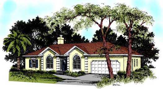 Mediterranean Style House Plans Plan: 4-163