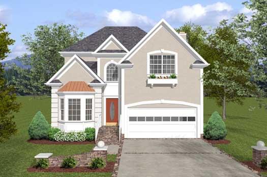 Mediterranean Style Home Design Plan: 4-166