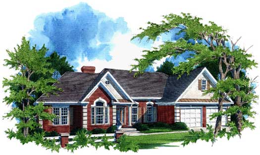 Traditional Style Home Design Plan: 4-167