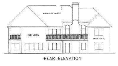Rear Elevation Plan: 4-167