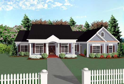 Southern Style House Plans 4-169