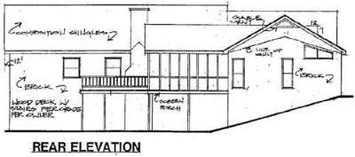 Rear Elevation Plan: 4-171