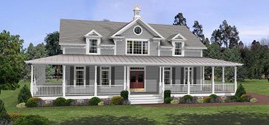 Country Style House Plans Plan: 4-172