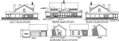 Rear Elevation Plan: 4-172