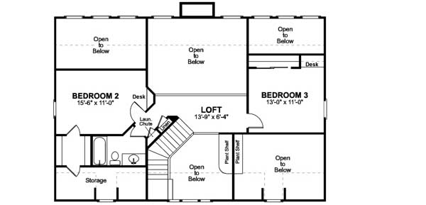 Upper/Second Floor Plan: 4-172