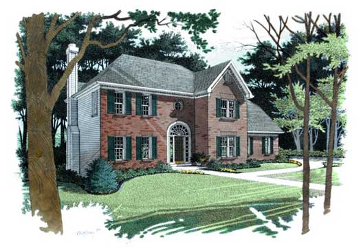 Traditional Style House Plans Plan: 4-175