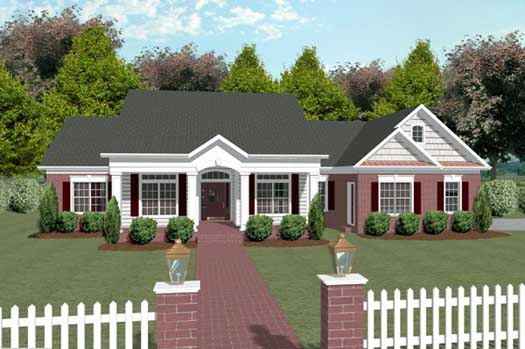 Southern Style Floor Plans Plan: 4-177