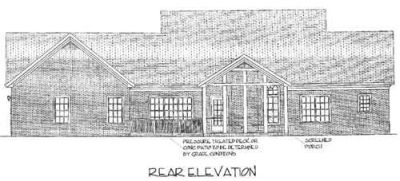 Rear Elevation Plan: 4-177