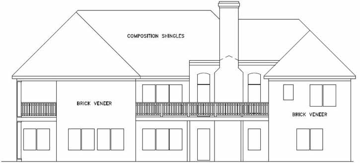 Rear Elevation Plan: 4-178
