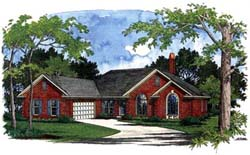 Traditional Style Home Design Plan: 4-183