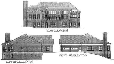 Rear Elevation Plan: 4-184