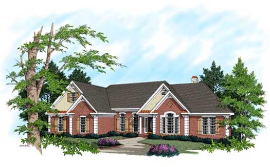 Traditional Style Home Design Plan: 4-185