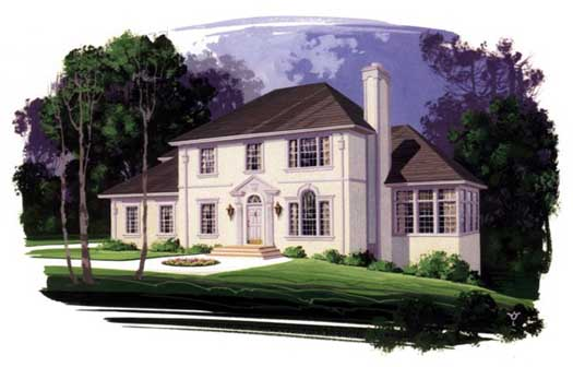 Southern Style Home Design Plan: 4-188