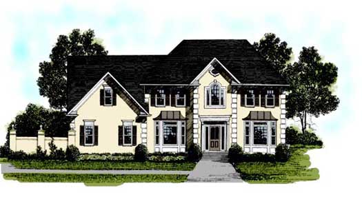 Mediterranean Style House Plans Plan: 4-190