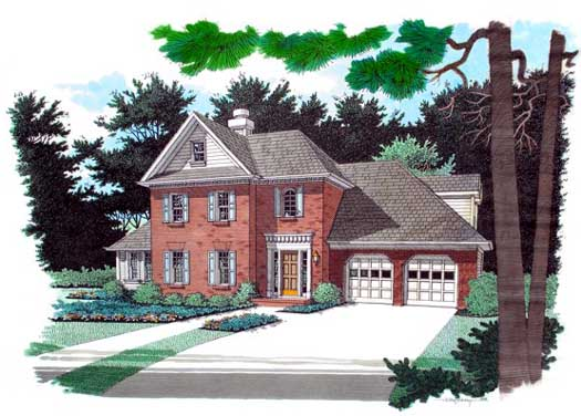 Traditional Style Home Design Plan: 4-191