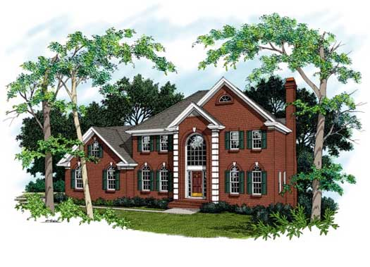 Southern Style Home Design Plan: 4-192