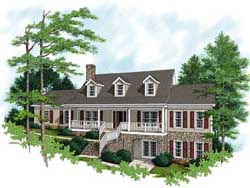 Traditional Style Home Design Plan: 4-194
