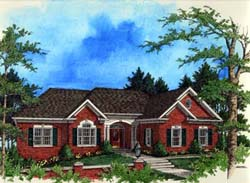 Traditional Style Home Design Plan: 4-195