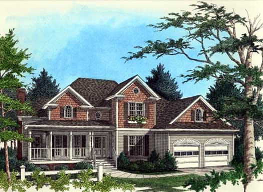 Traditional Style Home Design Plan: 4-196