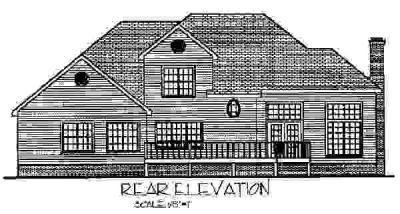 Rear Elevation Plan: 4-196