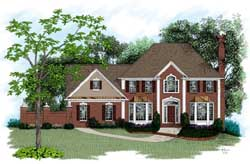 European Style House Plans Plan: 4-197