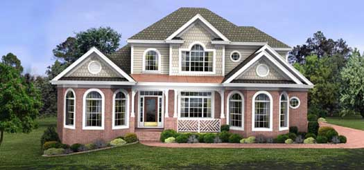 Traditional Style Home Design Plan: 4-198