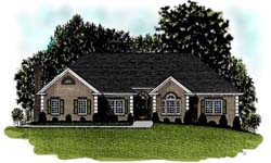 Traditional Style Home Design Plan: 4-202