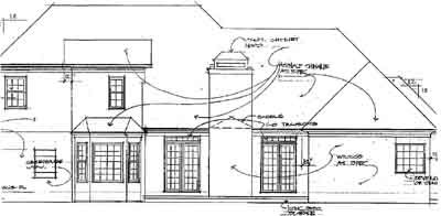 Rear Elevation Plan: 4-203