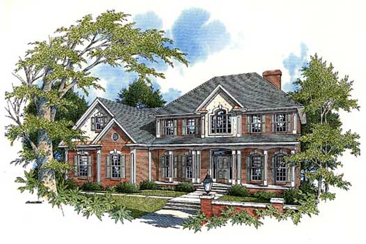 Traditional Style Home Design Plan: 4-204