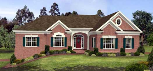 Traditional Style Home Design Plan: 4-205
