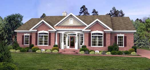 Traditional Style Floor Plans Plan: 4-209