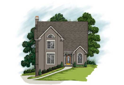 Traditional Style Home Design Plan: 4-210