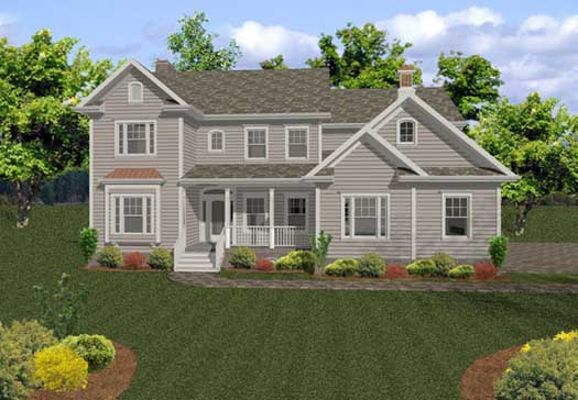 Country Style Home Design Plan: 4-211