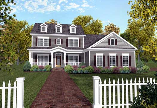 Southern Style Home Design Plan: 4-213