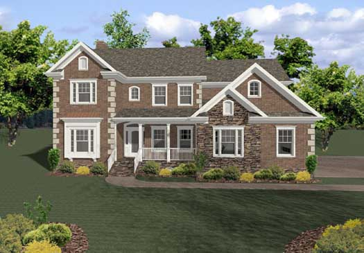 Traditional Style Home Design Plan: 4-214