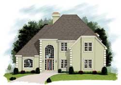 European Style House Plans Plan: 4-215