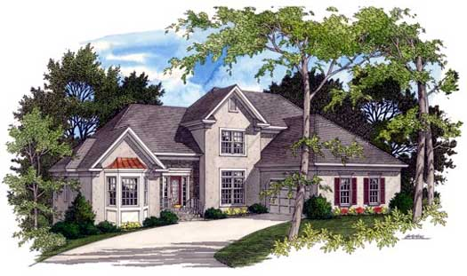 Traditional Style Home Design Plan: 4-217