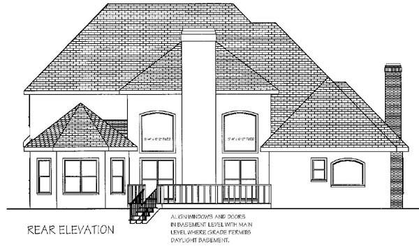 Rear Elevation Plan: 4-219