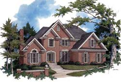 Traditional Style Home Design Plan: 4-219