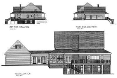 Rear Elevation Plan: 4-220
