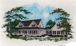 Country Style Home Design Plan: 4-220