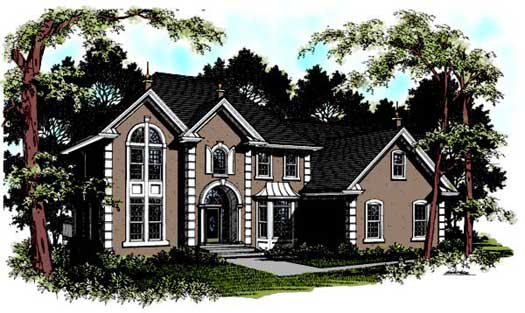 Traditional Style Home Design Plan: 4-222