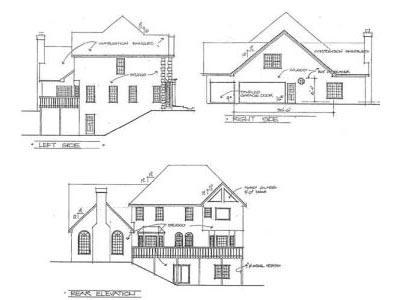 Rear Elevation Plan: 4-222