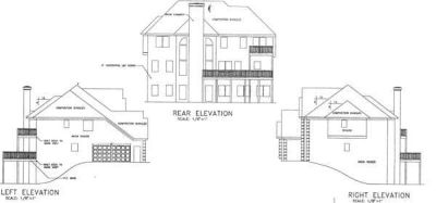 Rear Elevation Plan: 4-223