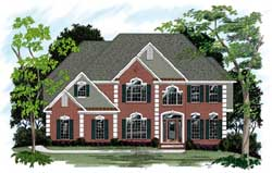 Traditional Style Home Design Plan: 4-223
