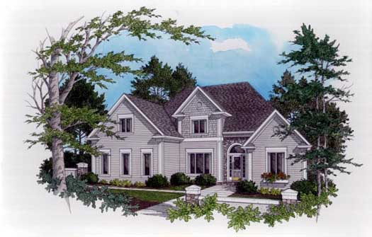 Traditional Style Home Design Plan: 4-224