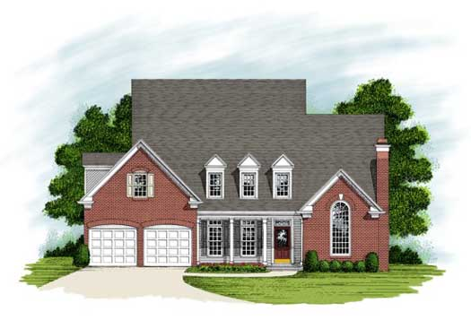 Traditional Style Home Design Plan: 4-225