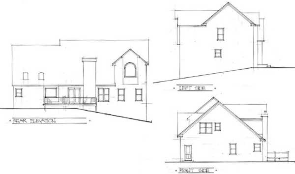 Rear Elevation Plan: 4-226