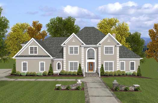 European Style Home Design Plan: 4-232